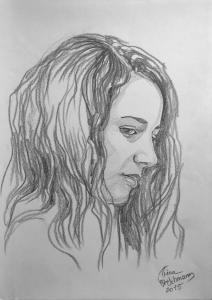 Portrait Bleistift auf Aquarellkarton Nr. 3050 2015